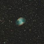 Nébuleuse planétaire M27 dans le Petit Renard