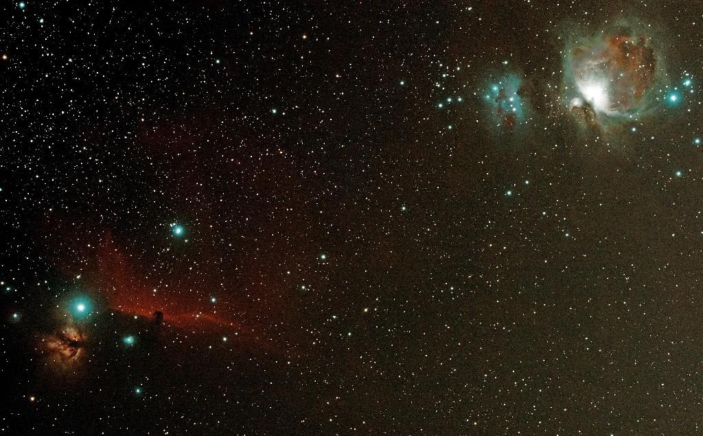 Nébuleuse M42 et la tête de cheval dans Orion